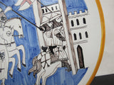 Italian RAMPINI GUBBIO Holy Crusades Hand Painted BATTLE Scene Charger Plate