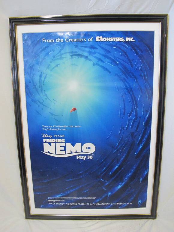 Framed Walt Disney FINDING NEMO Original Cartoon One Sheet 2003 Movie Poster
