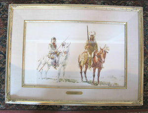PIEGAN DANDIES Original Native American Watercolor Painting by Frank HAGEL