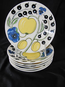 ARABIA Paratiisi Fine China Plate Pitcher & Serving Bowl 15pc Dinnerware Set
