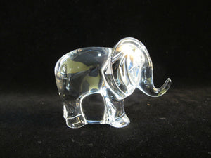 BACCARAT Clear Crystal NOAH's ARK Clear Crystal Glass ELEPHANT Figurine