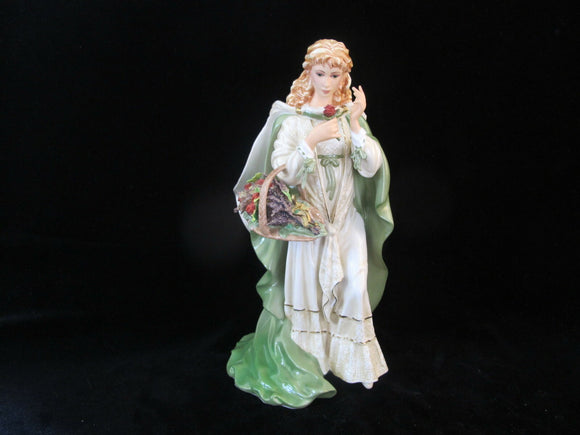 Franklin Mint ROSE of TRALEE by Ann O'Connor M 5357 Musical Porcelain Figurine