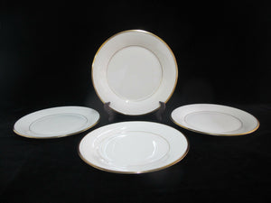 LENOX Ecru China Gold Rim ETERNAL Set of 4 Dinner Plates 10 3/4""