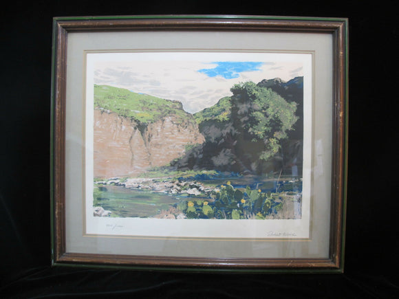 ROBERT WOOD Signed Limited Edition Rocky River Landscape Lithograph