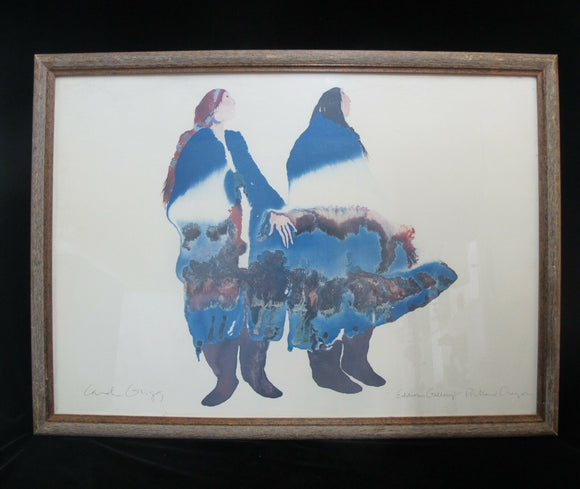 CAROL GRIGG Signed Editors Gallery NATIVE American Indian Oregon Lithograph