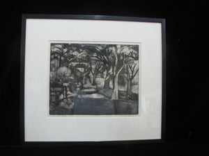 CHARLES HEANEY Oregon Signed Framed Etching Limited Edition McMINNVILLE STREET
