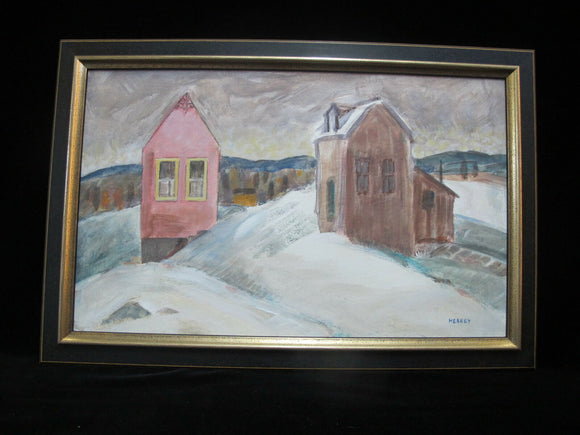 CHARLES HEANEY Oregon Casein on Board Painting Framed Art WINTER