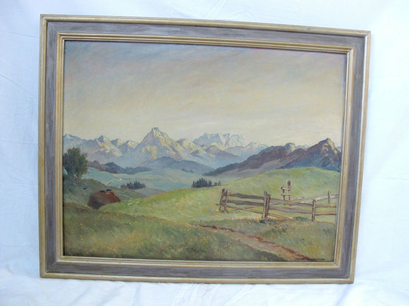 Heinrich LANDGREBE Original MOUNTAINSCAPE German Contemporary Oil Painting 1948