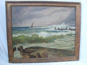Heinrich LANDGREBE Signed Original SEASCAPE German Contemporary Oil Painting