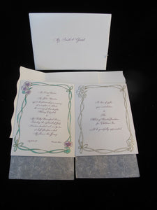 WHITNEY HOUSTON Bobby Brown 1992 Complete Multi Page WEDDING Invitation