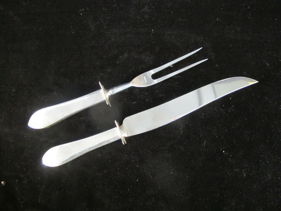 WATSON Sterling Silver Handle JOHN ADAMS Carving Knife & Fork Set