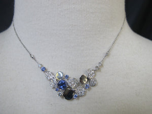 TIFFANY Diamond & Tanzanite Platinum PAPER FLOWERS Collection Necklace with Box