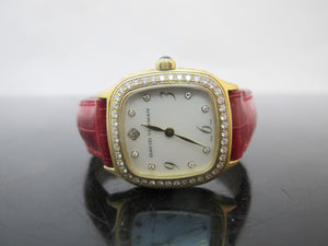 DAVID YURMAN 18k Yellow Gold THOROUGHBRED Mother of Pearl 26mm T304 XS88 Watch