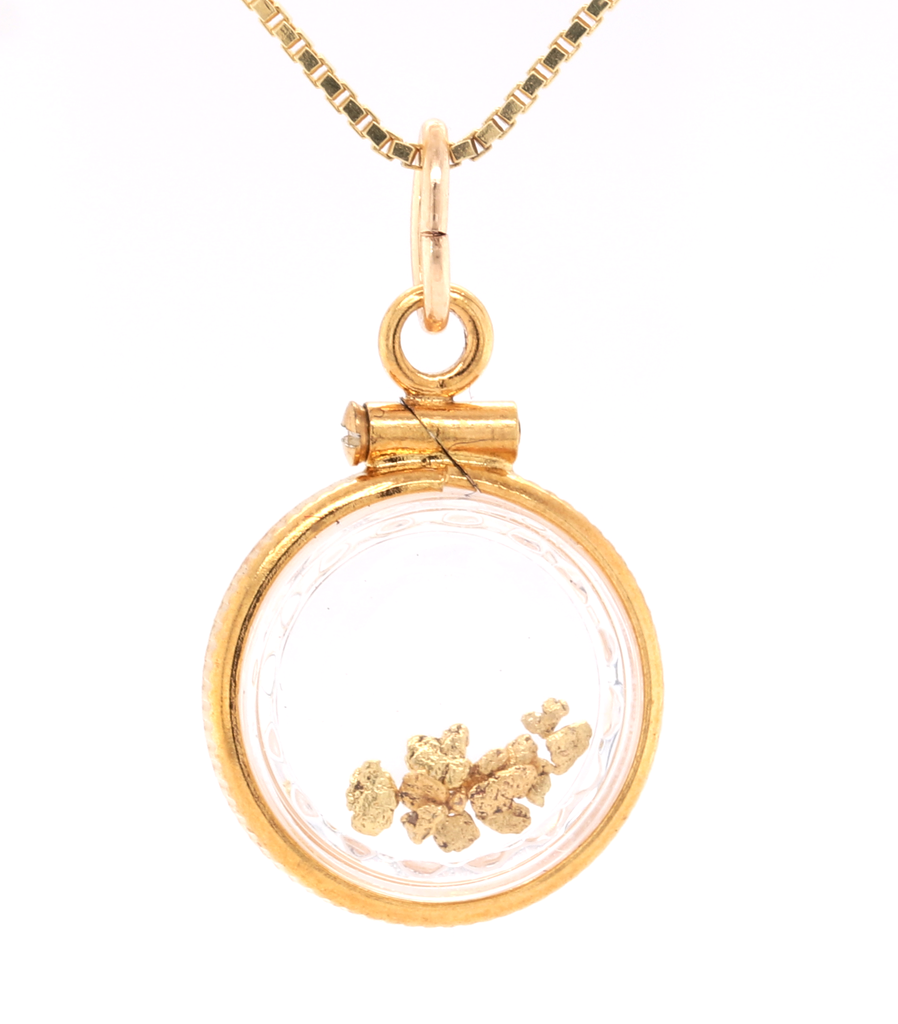 Natural Gold Nuggets Locket by Orocal - Multiple Nuggets