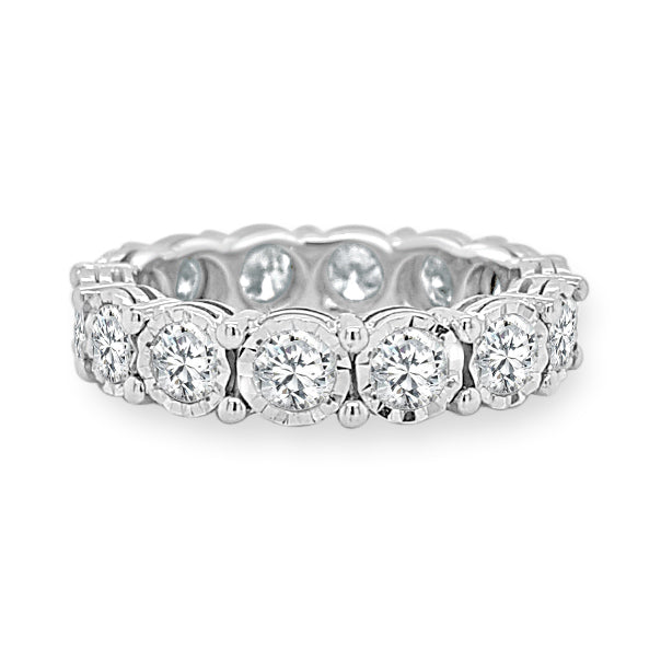 Eternity Band Made In 14K White Gold