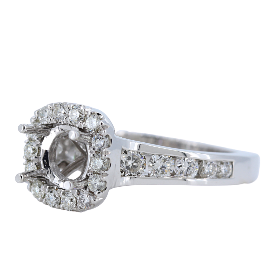 14k White Gold Setting with 1.06ct diamonds