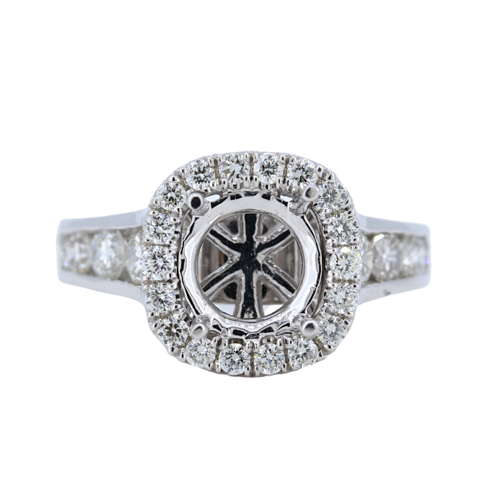14k White Gold Setting with 1.49ct diamonds