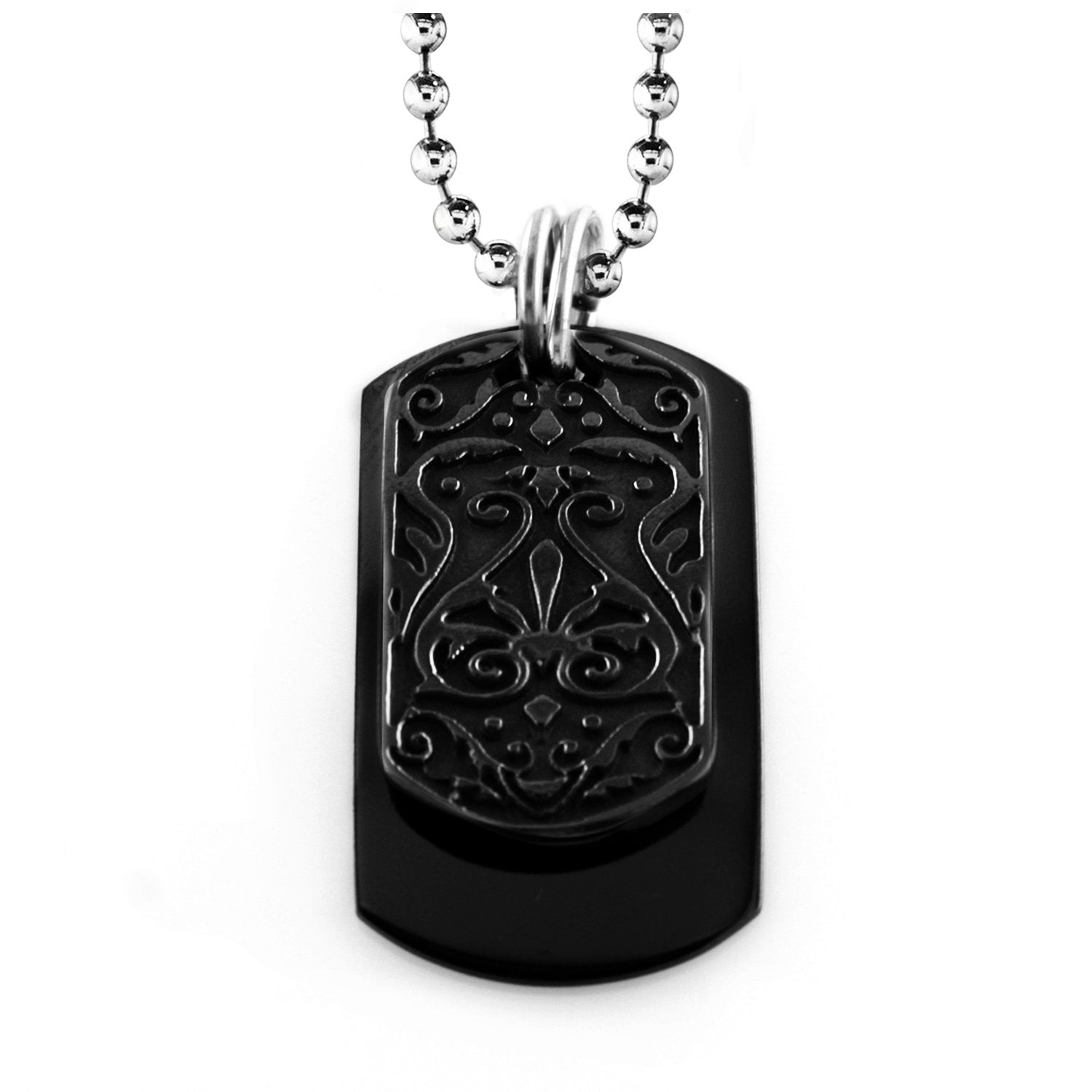 Black Ti™ Heritage Small Tag Necklace