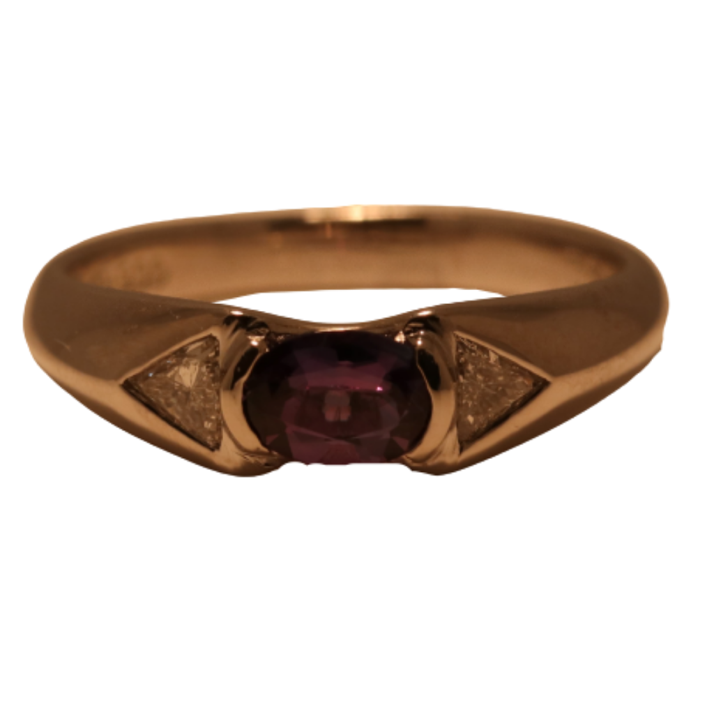 Platinum Ring with .54ct Alexandrite and .20ct diamonds
