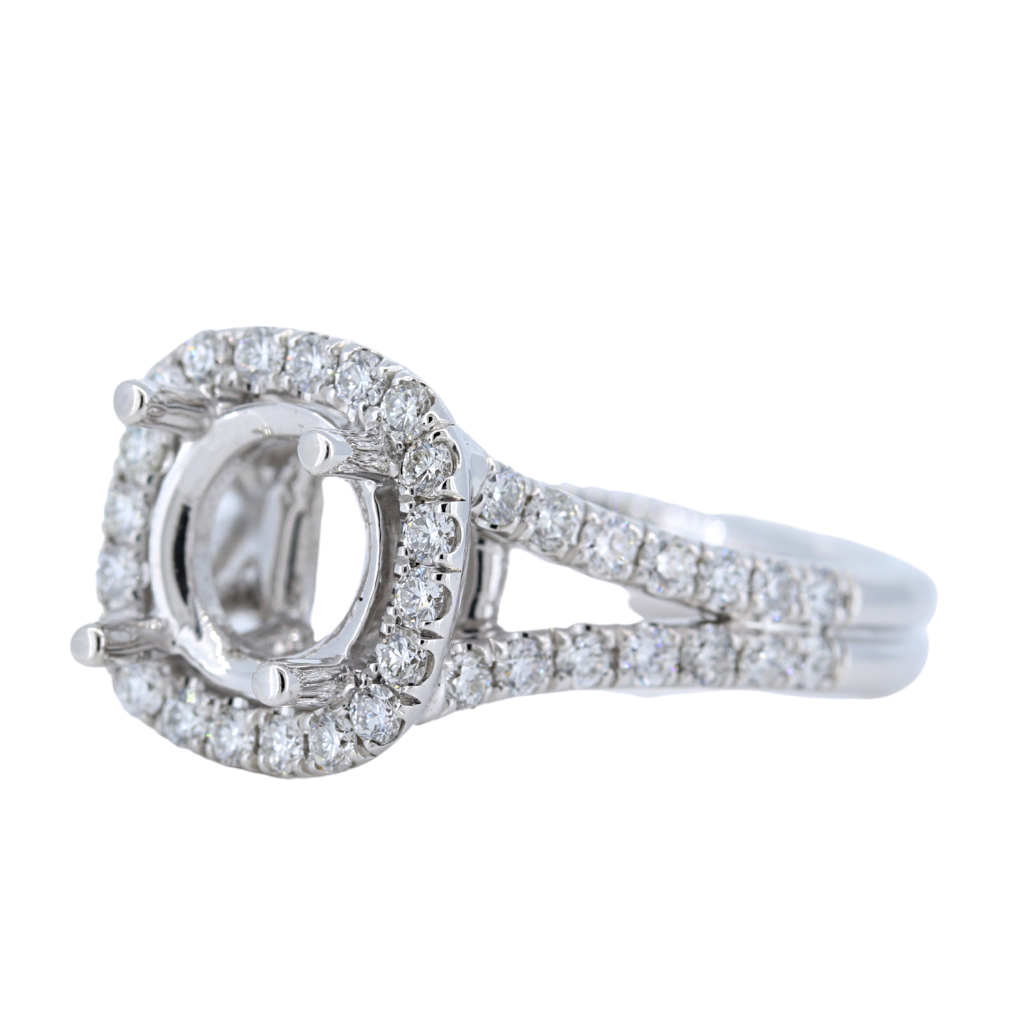 14k White Gold Setting with .98ct diamonds
