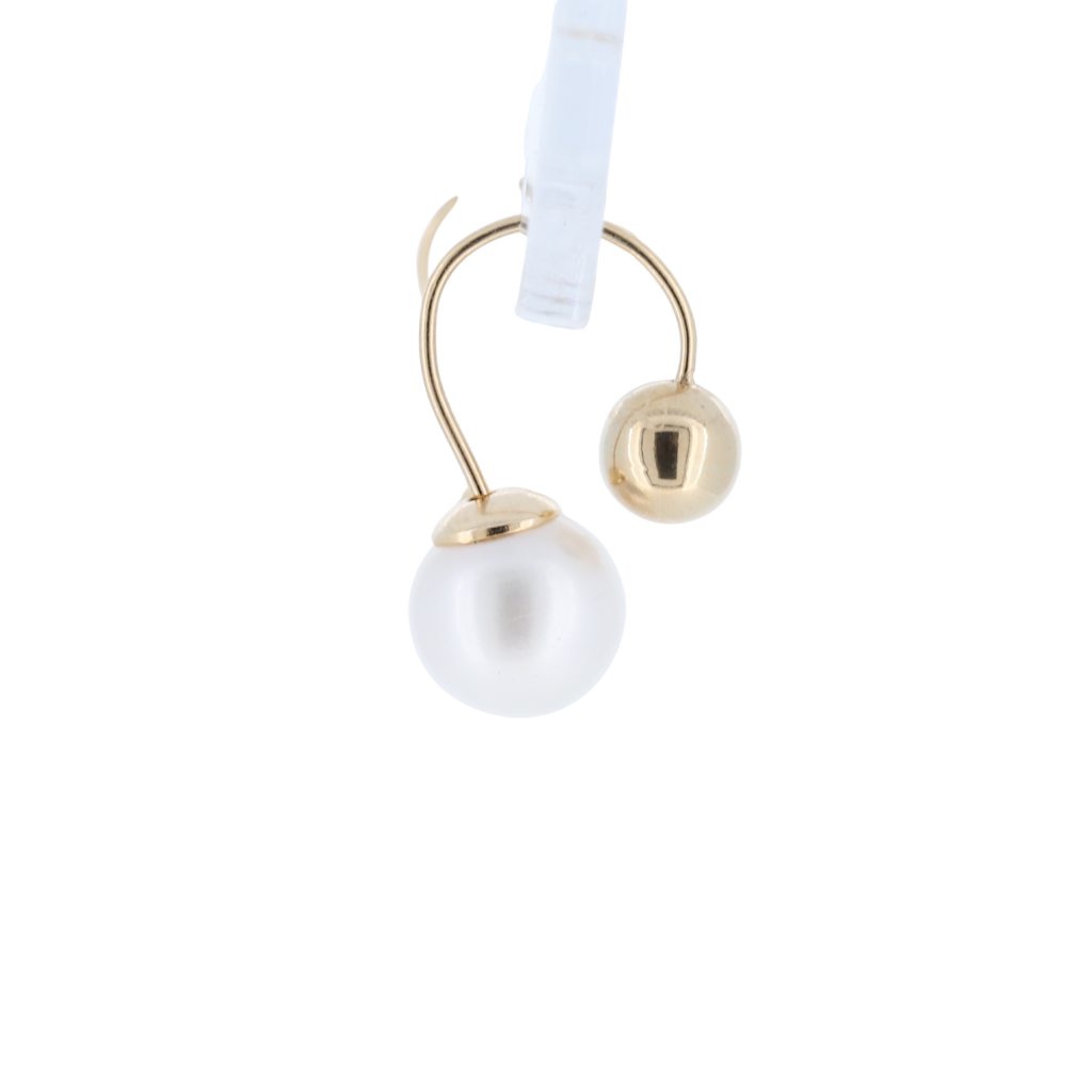 14K Culture Pearl Earrings With Gold Studs