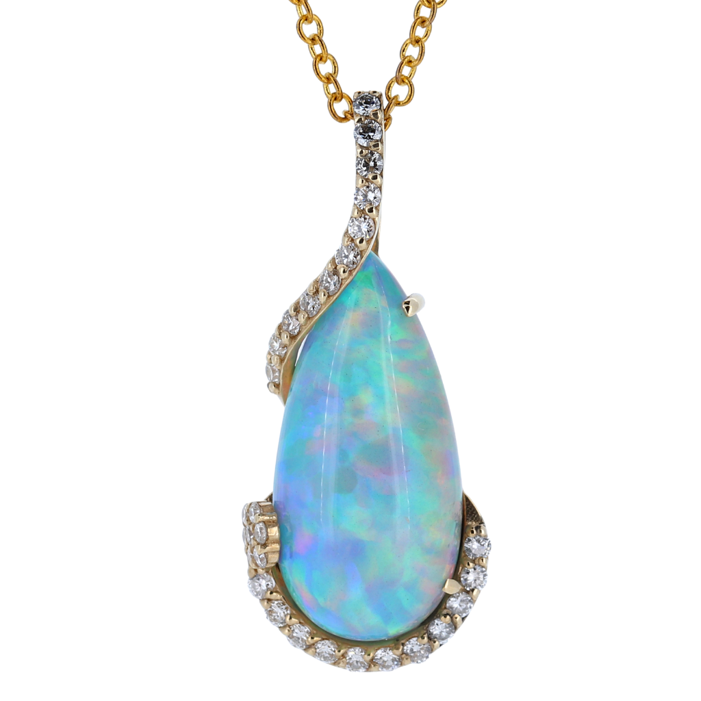 7.93 Carat Opal 14k Yellow Gold  Pendant