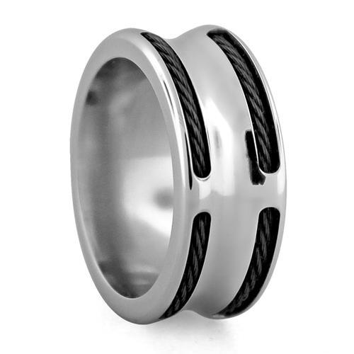 Boulevard Steel and Cable Ring