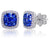 1.78Cts Sapphire and Diamond Earring in 18Kt White Gold