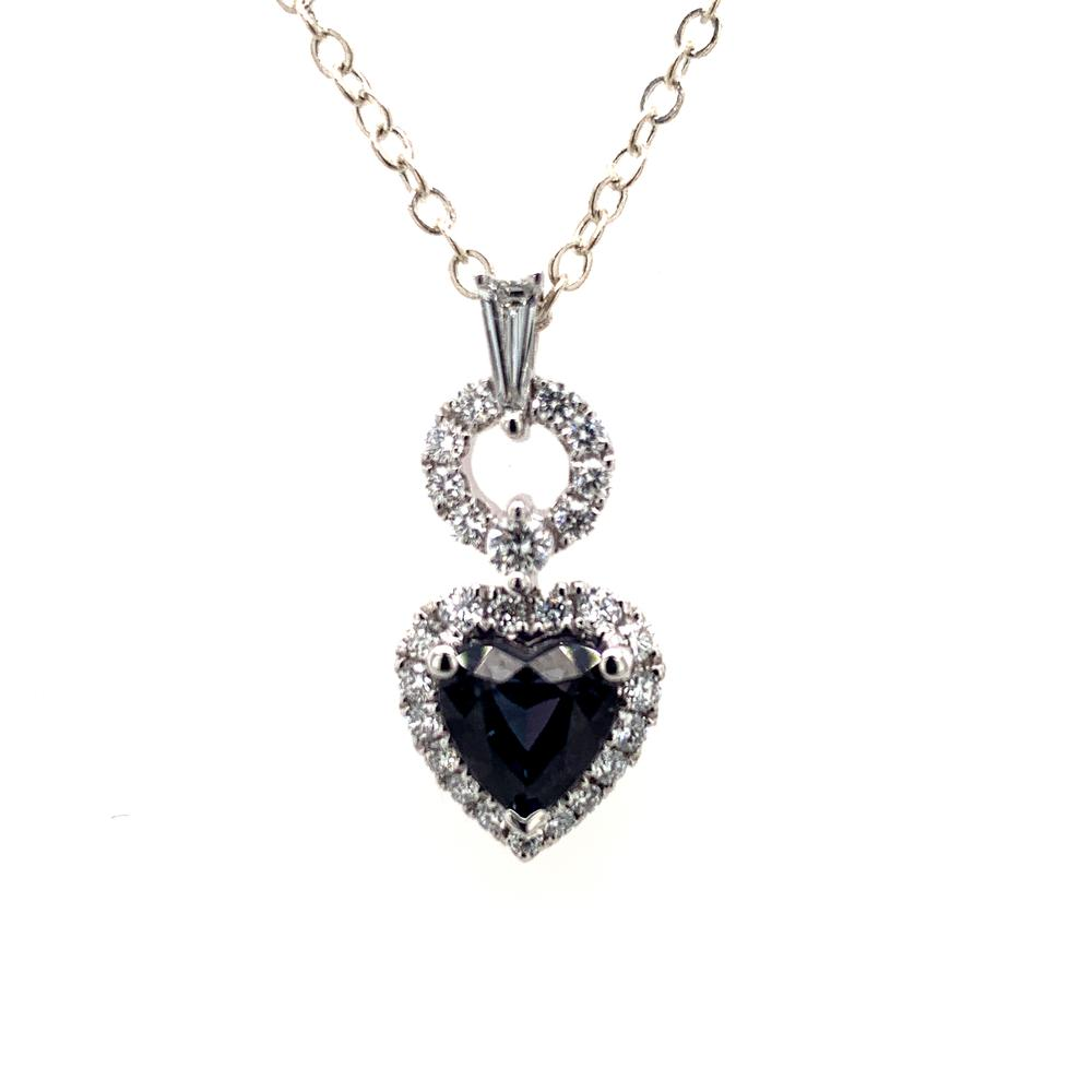 18kt White Gold gold pendant with a GUBELIN certified Brazilian alexandrite