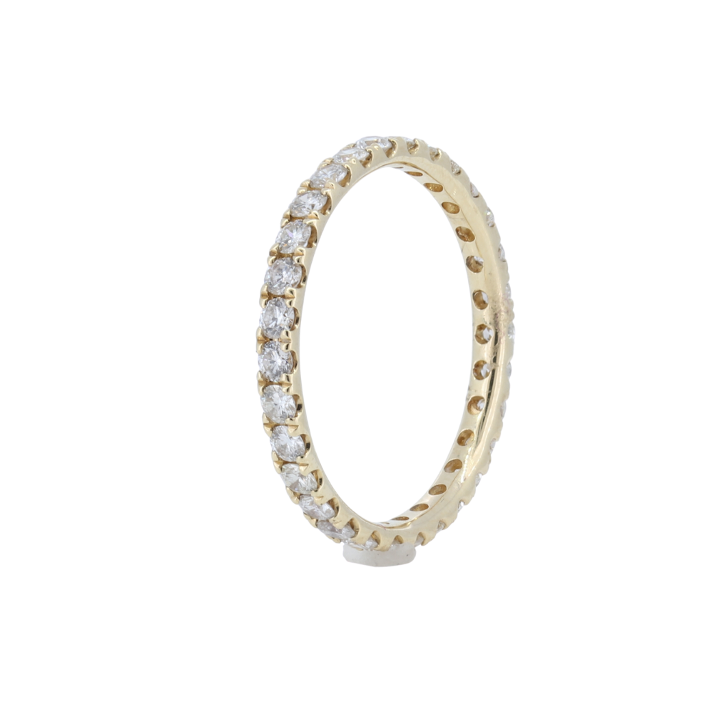 0.85ctw Diamond Eternity Band in 14Kt Yellow Gold