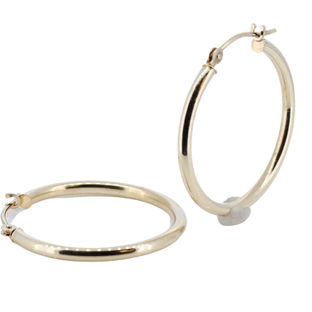 14K Gold Hoop Earrings 0.7 Grams