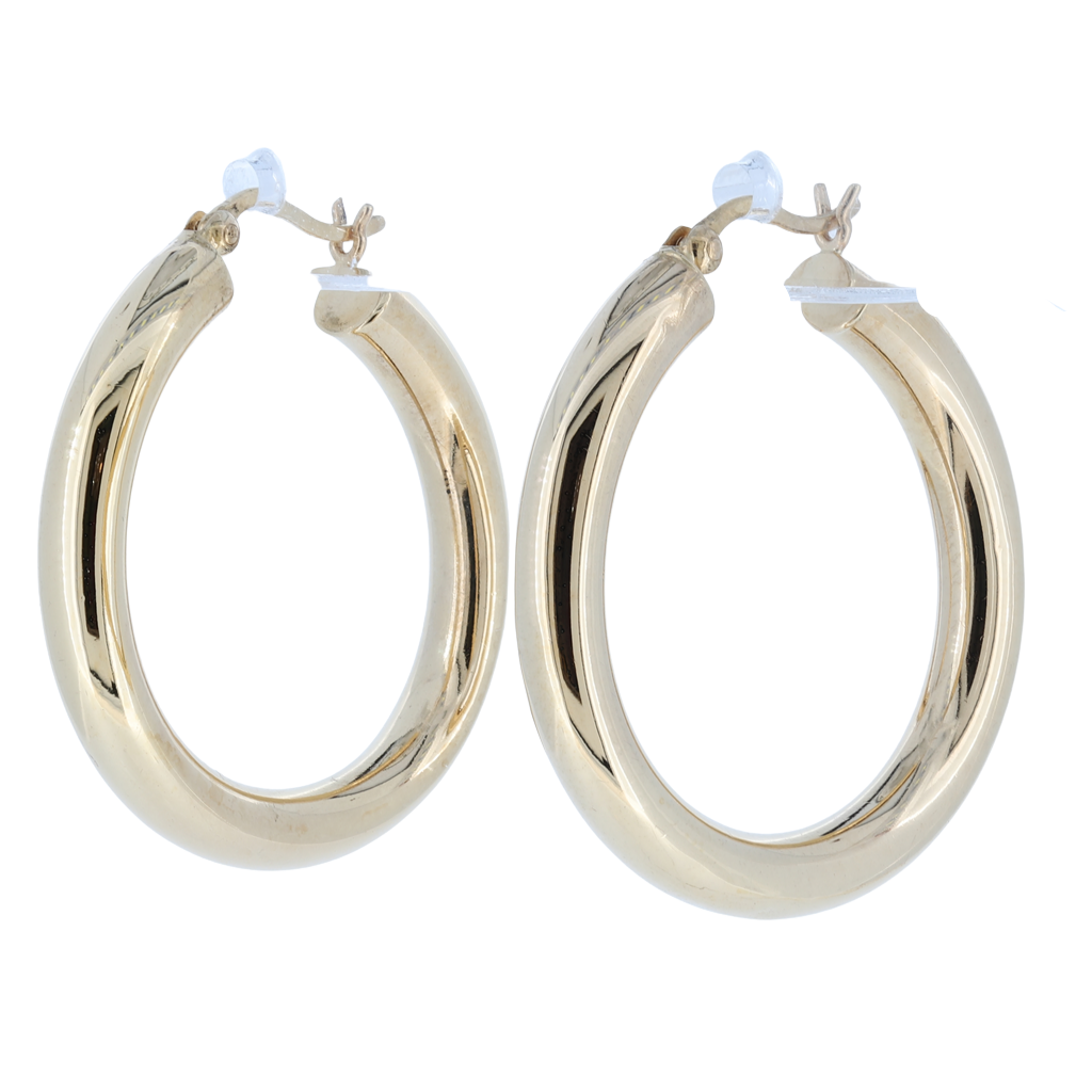 14K Yellow Gold Hoop Earrings 3.4 Grams
