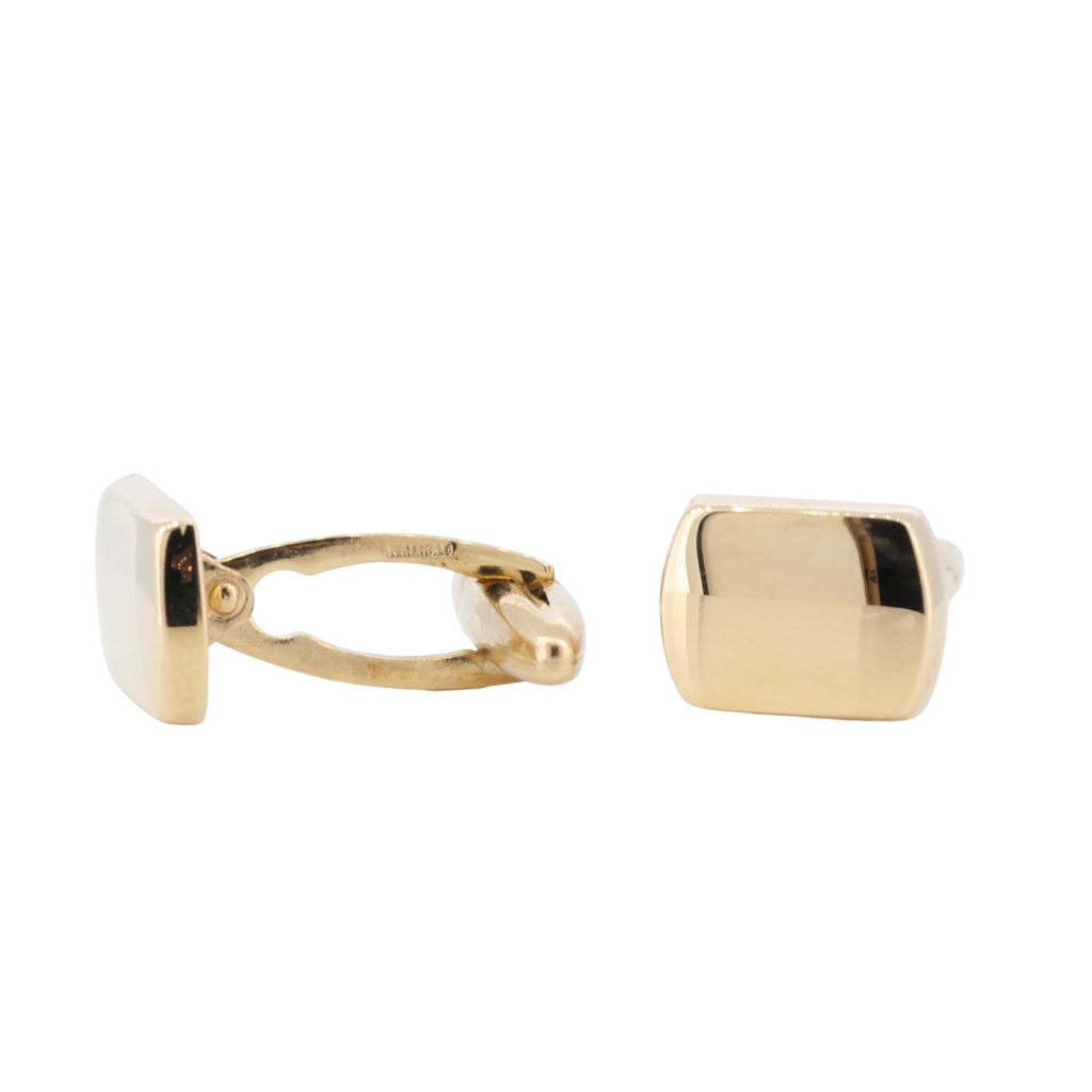 14K Men's Cufflinks In Yellow Gold