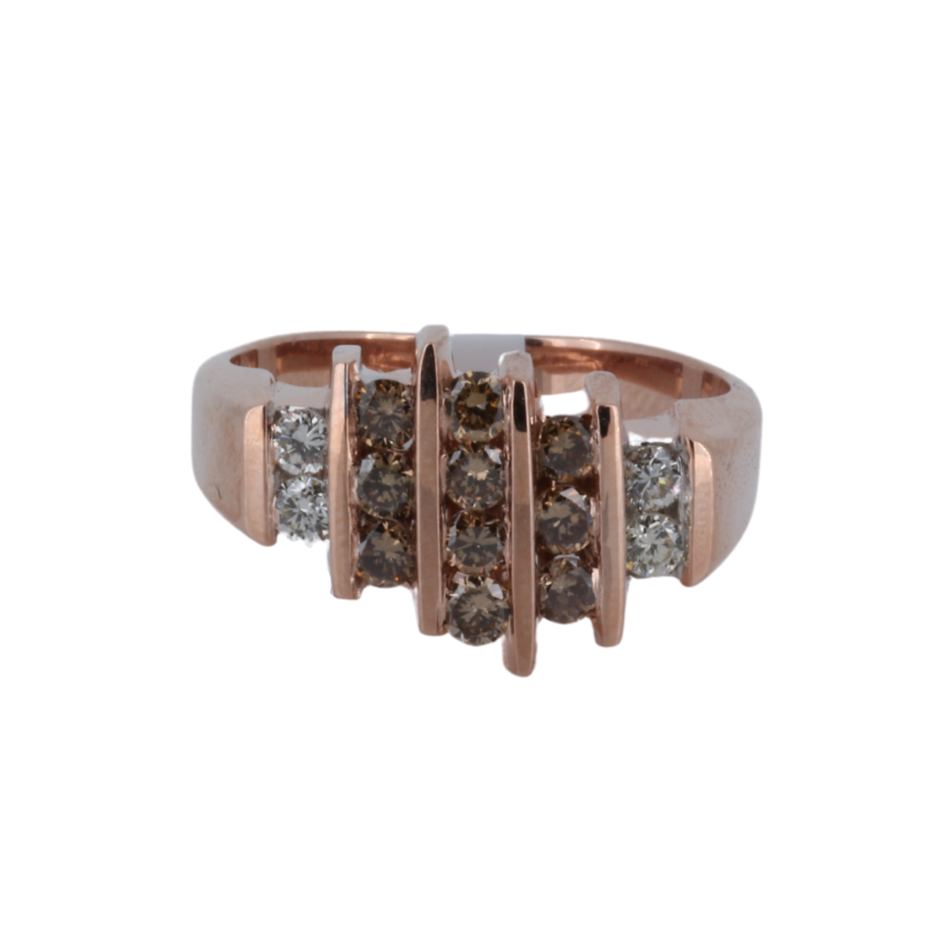 Brown Diamond and Rose Gold Men's Ring