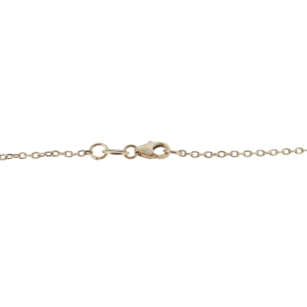 14K Rhombus Shaped Necklace