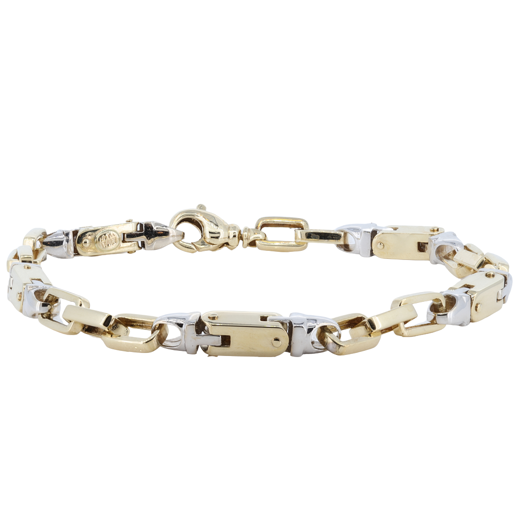 14kt Two Tone  Bracelet - 20.4 grams