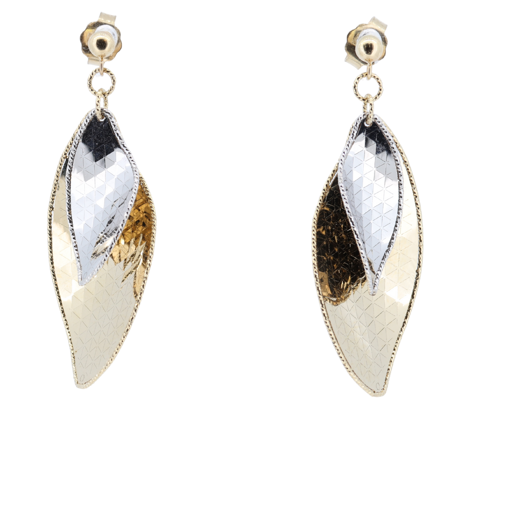 14K Fancy Two-Tone Earrings