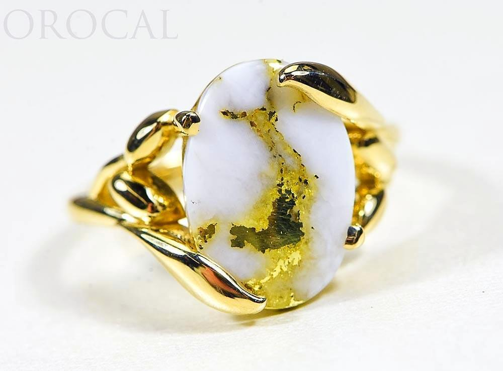 "Gold Quartz Ladies Ring ""Orocal"" RL1136Q  Genuine Hand Crafted Jewelry - 14K Gold Casting"