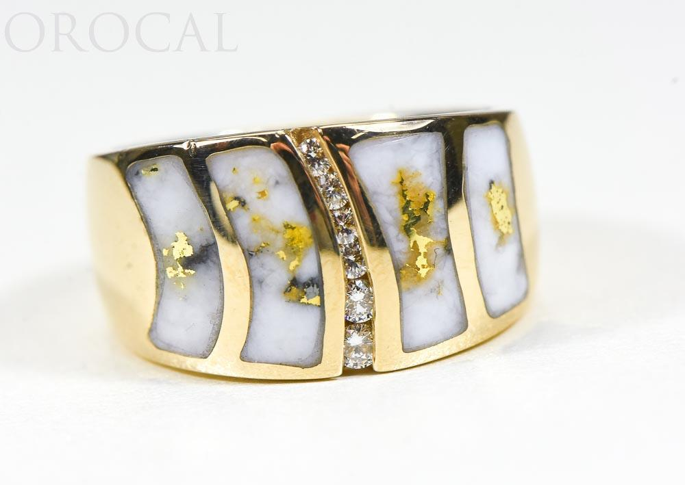 "Gold Quartz Ladies Ring ""Orocal"" RLDL58D15Q Genuine Hand Crafted Jewelry - 14K Gold Casting"