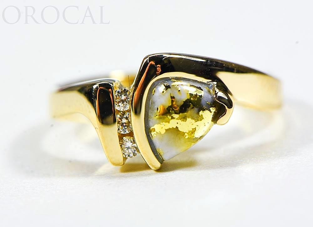 "Gold Quartz Ladies Ring ""Orocal"" RL737D7Q Genuine Hand Crafted Jewelry - 14K Gold Casting"
