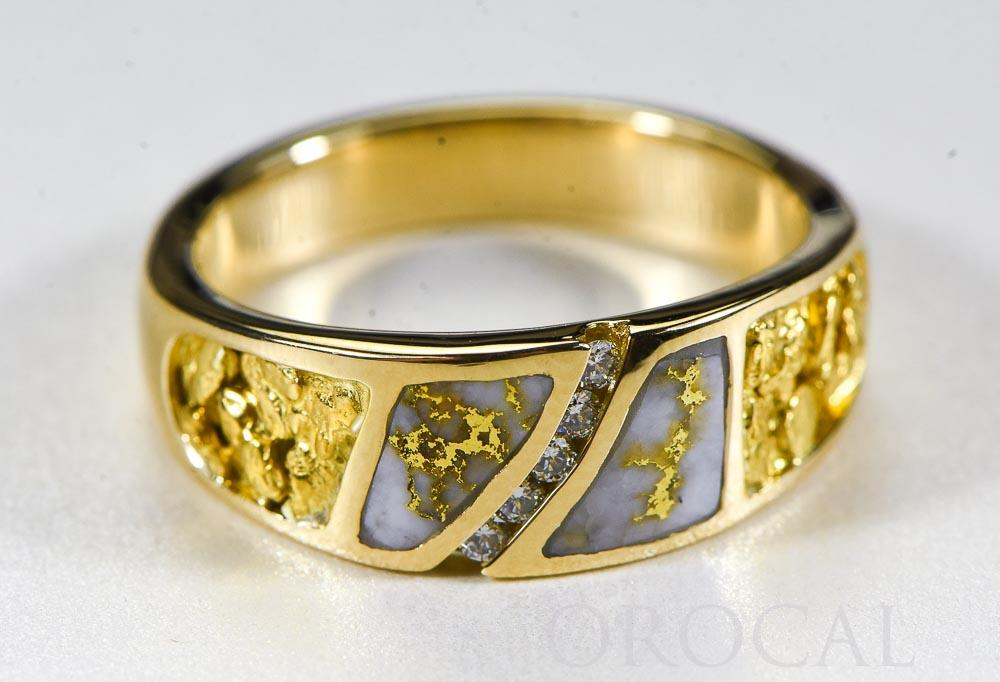 "Gold Quartz Ring ""Orocal"" RM731SD10NQ Genuine Hand Crafted Jewelry - 14K Gold Casting"