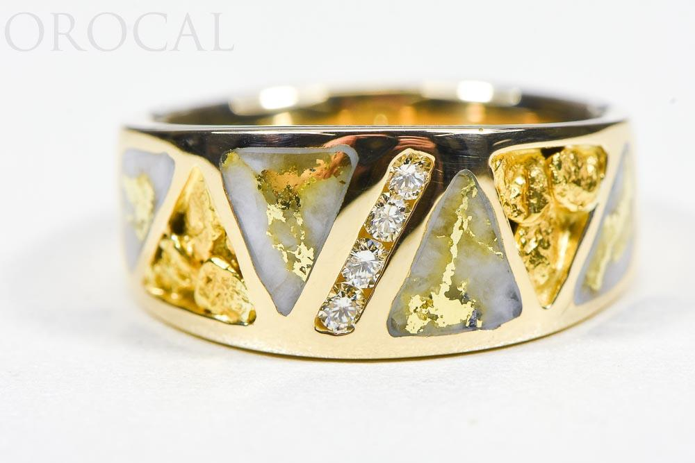 "Gold Quartz Ring ""Orocal"" RM883D20NQ Genuine Hand Crafted Jewelry - 14K Gold Casting"