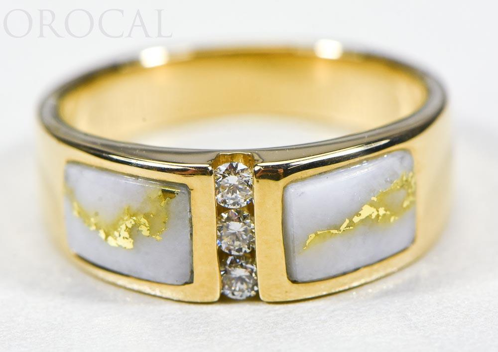 "Gold Quartz Ladies Ring ""Orocal"" RLL1330DQ Genuine Hand Crafted Jewelry - 14K Gold Casting"