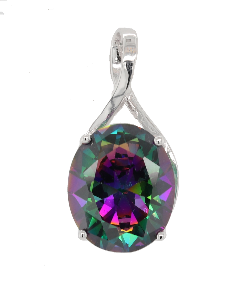 Additional Sterling Silver Northern Lights Quartz Pendant - 6ct