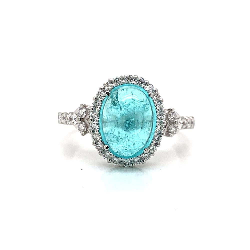 Cabochon Paraiba Tourmaline with GIA Report