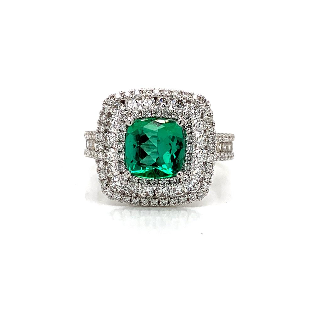 18kw Brazilian Paraiba Tourmaline ring with GIA Report