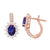 14kr tanzanite earrings