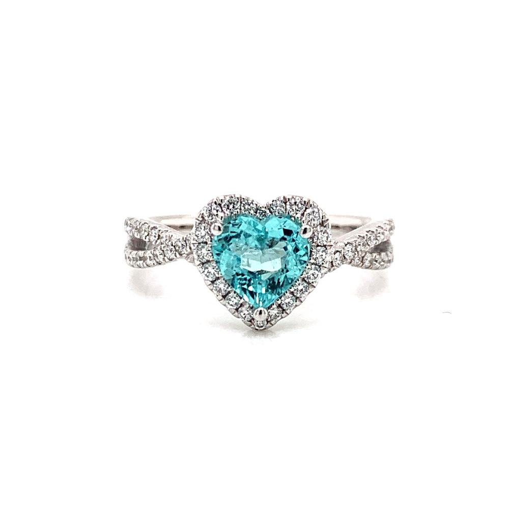 18k ring with a GIA certified Paraiba Tourmaline