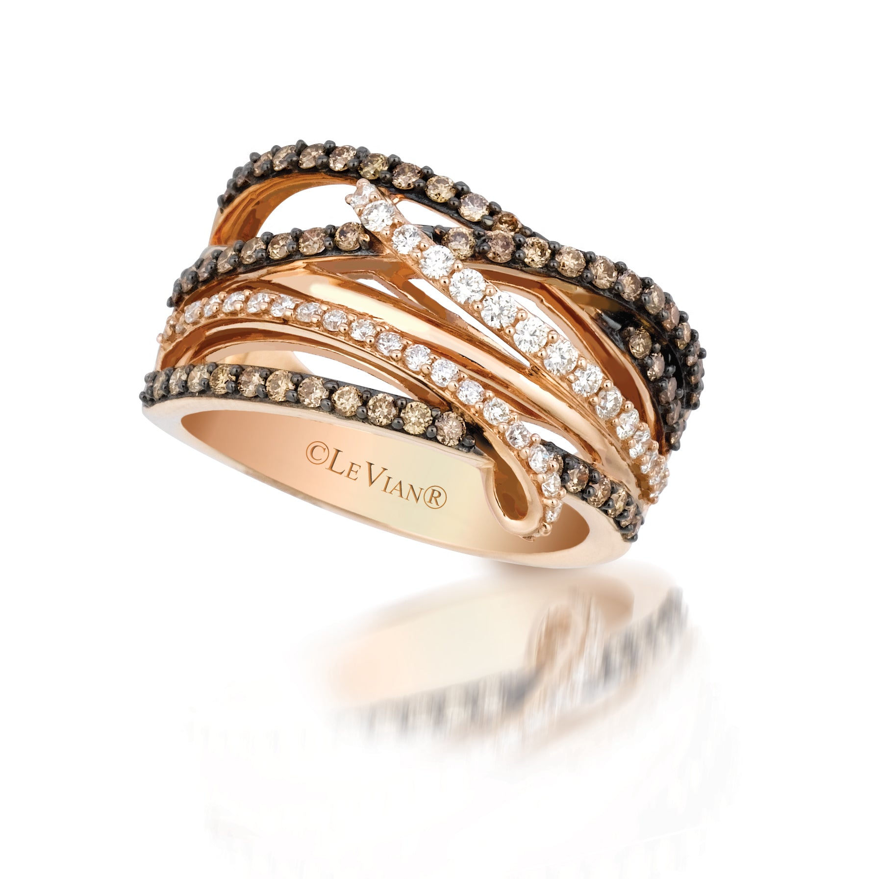 14K Strawberry Gold And Diamond Ring