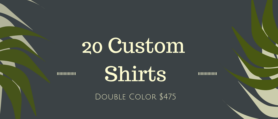 20 Custom Shirts Bundle (Double Print)